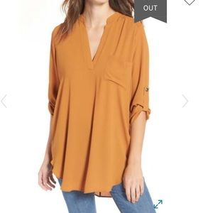 LUSH Roll Sleeve Tunic Top. Multiple colors left